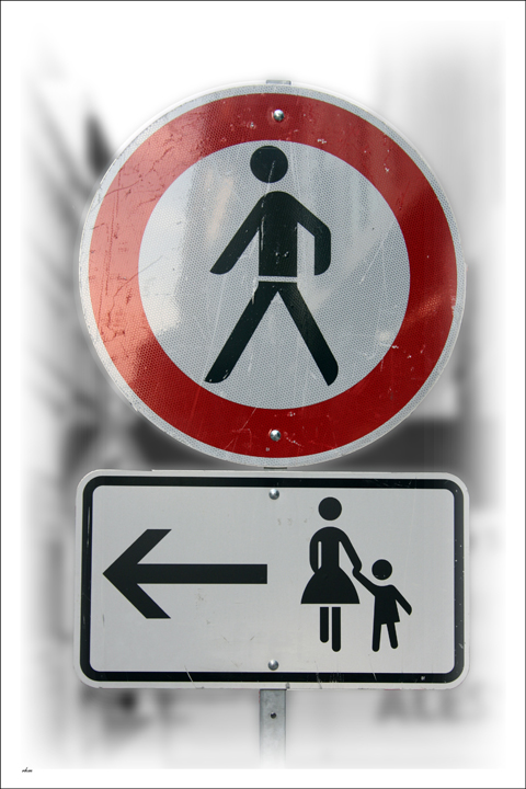Zeichen für getrennte Wege