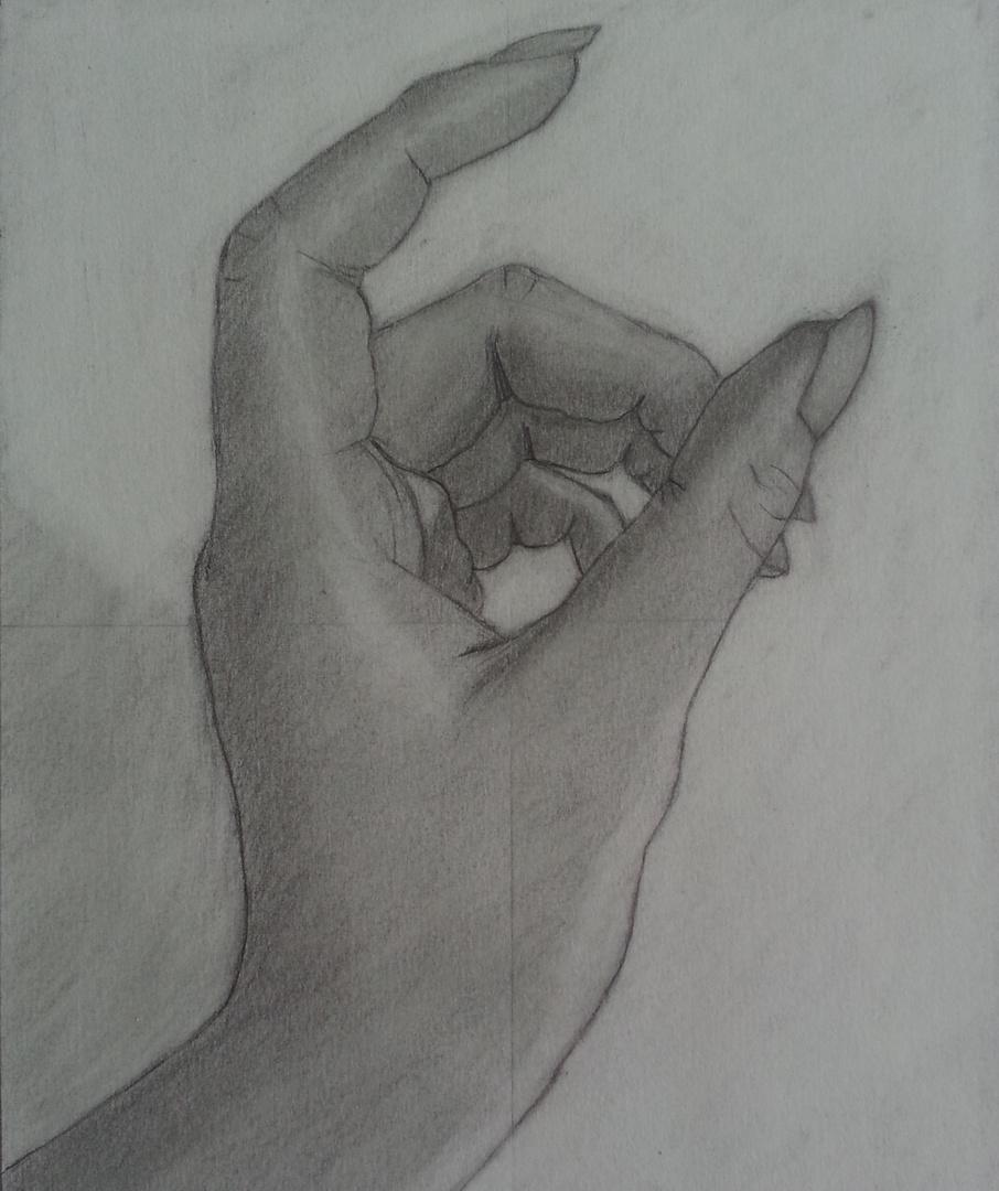 Zeichnung meiner Hand