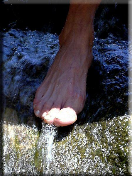 Zeigt her eure Füße...........,eine kühle Erfrischung