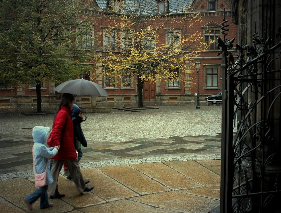 Zeit der Regenschirme