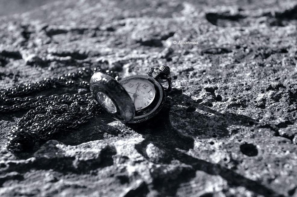 Zeit in schwarz-weiß