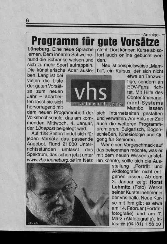 Zeitungsartikel vom 30.12.05