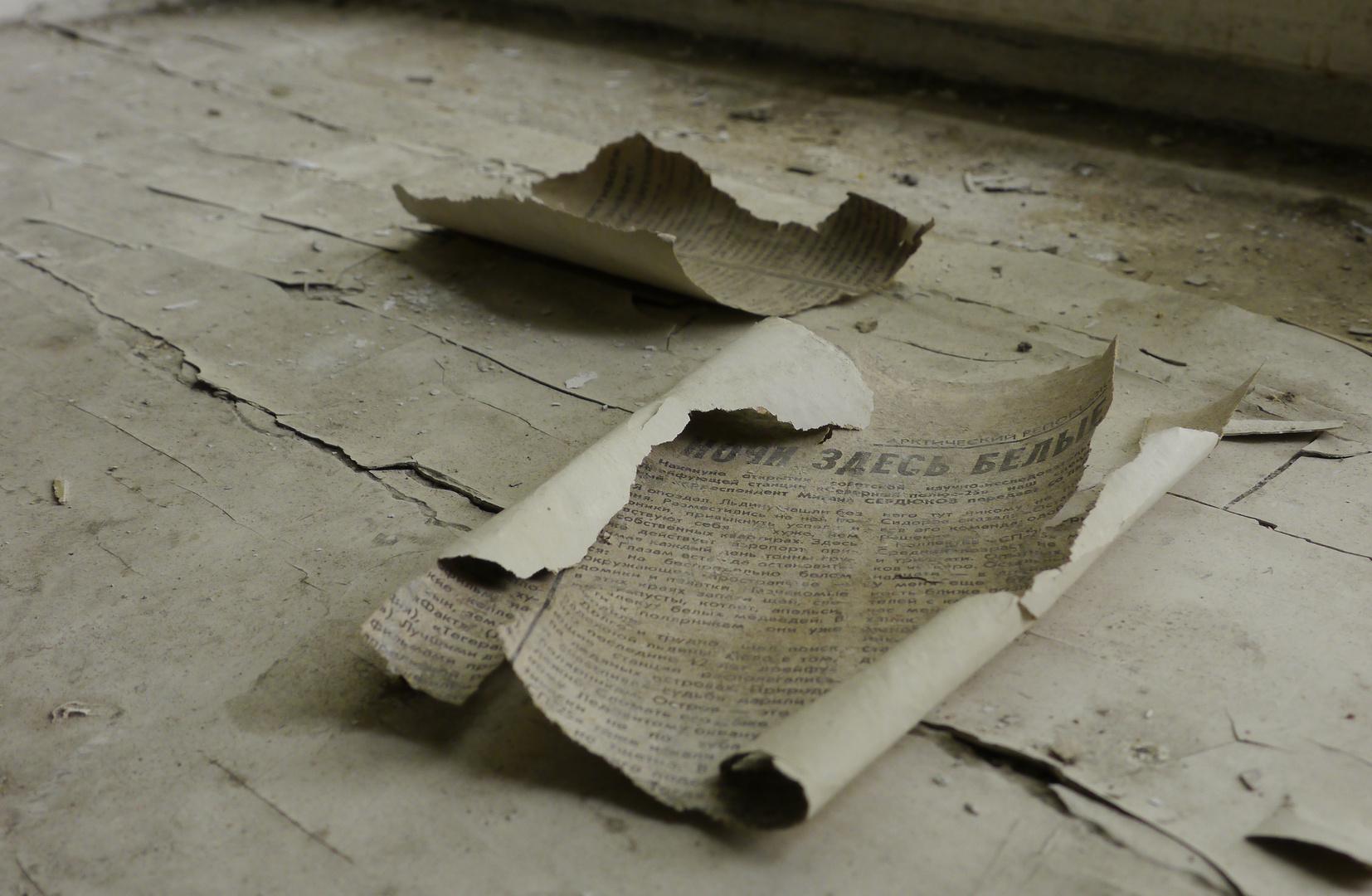Zeitungsschnipsel