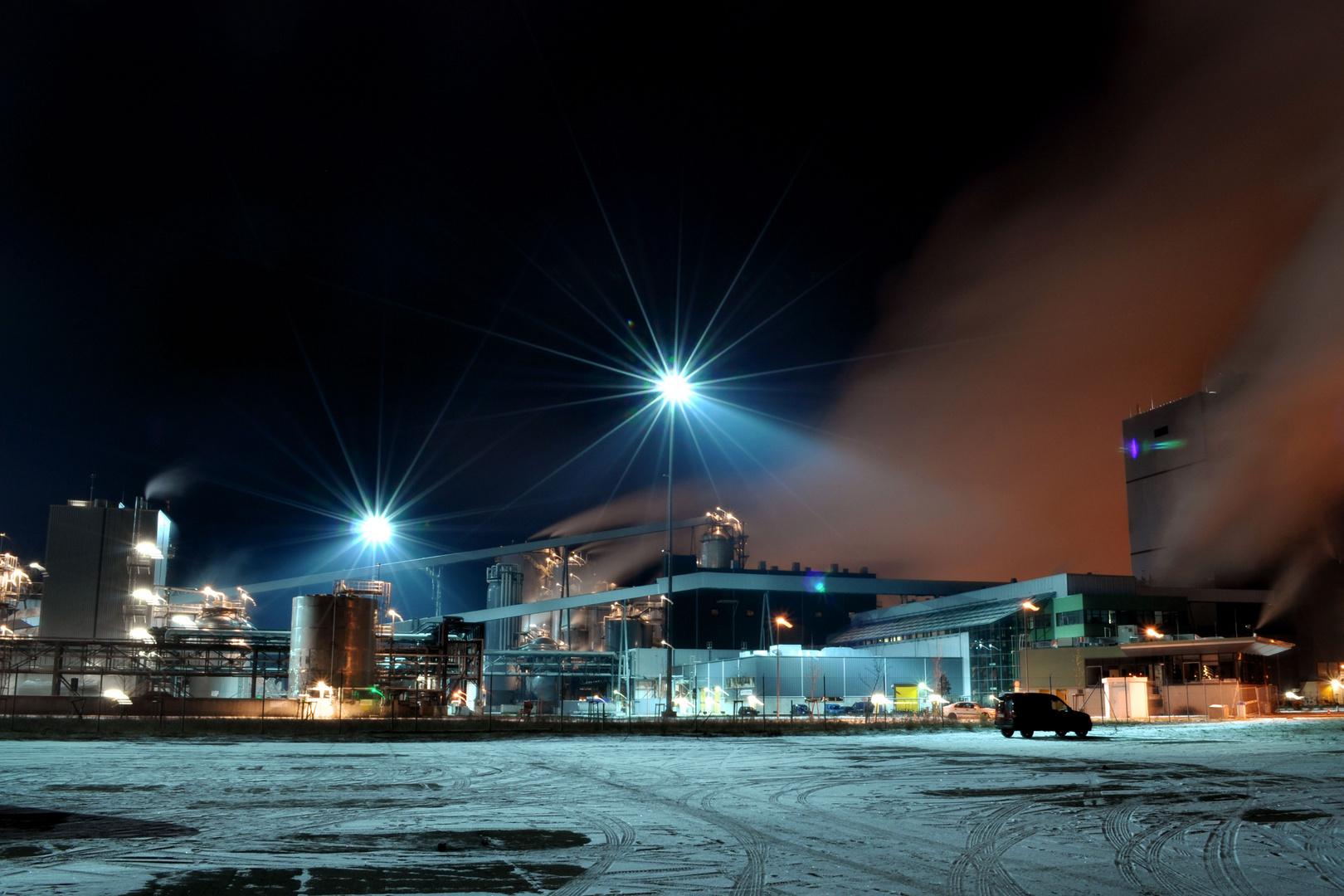 Zellstoffwerk bei Arneburg / Altmark