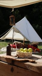 Zelt im Lager