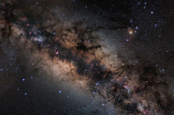 Zentrum der Milchstraße (in Farbe)