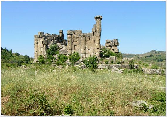 Zentrum der Tempelanlage Hosn Suleiman