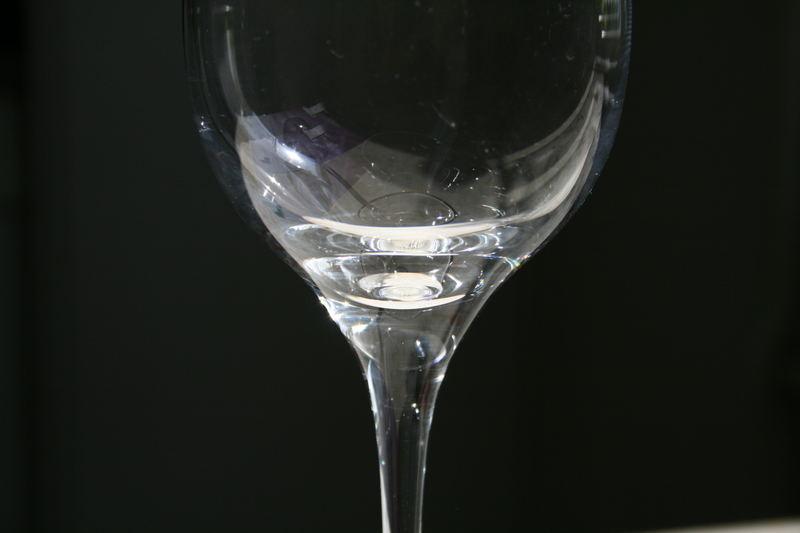 zerbrechliches Weinglas