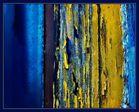Zerfall in blau-gelb