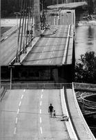 Zerstoerte Donaubruecke