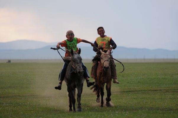 Zieleinlauf bei Naadam