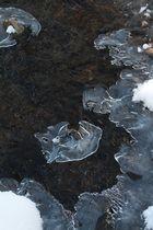 zierliche Eisflächen auf dem Schlierbach Januar 2012