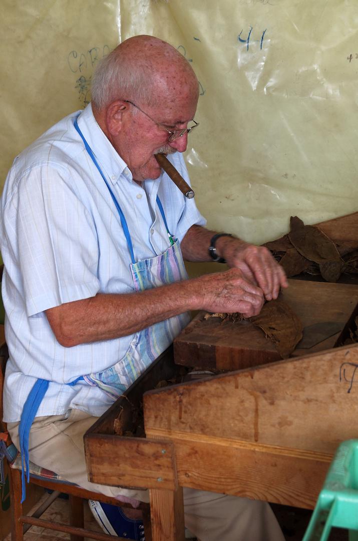 Zigarrenroller, Finca tabaquera El Sitio, La Palma, September 2013