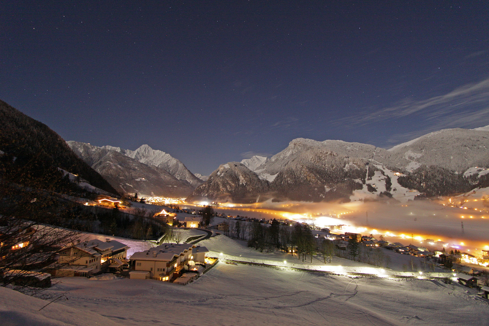 Zillertal by night