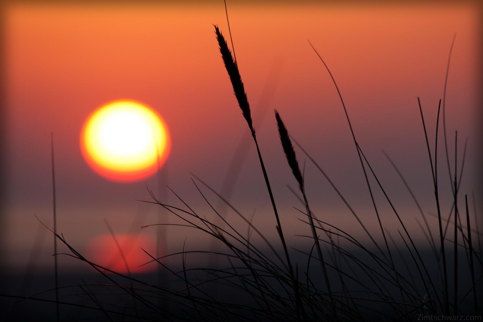 Zimt - Sonnenuntergang auf Borkum -