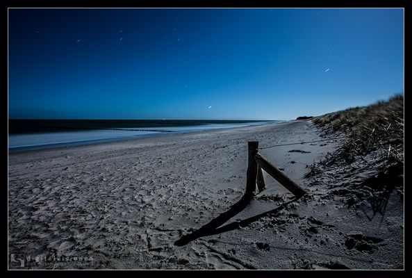 Zingster Strand bei Vollmond /3.