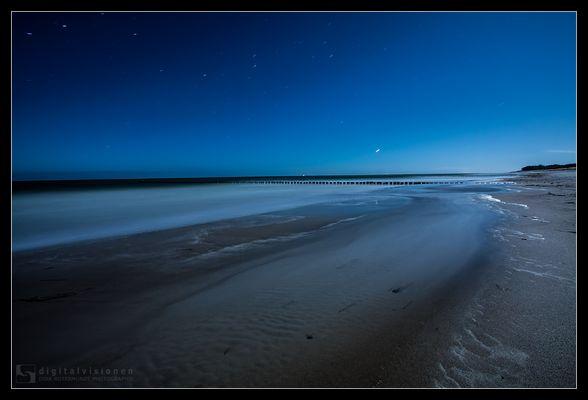 Zingster Strand bei Vollmond /4.
