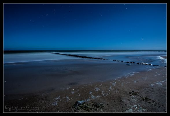 Zingster Strand bei Vollmond /5.