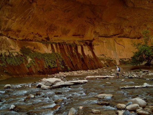 Zion Canyon an einer seiner Schönsten stellen