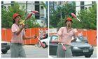 Zirkuskunst auf der Straße