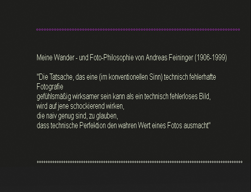 Zitat Andreas Feininger