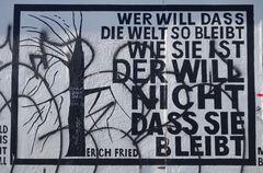 Zitat von Erich Fried (East Side Gallery, Berlin)