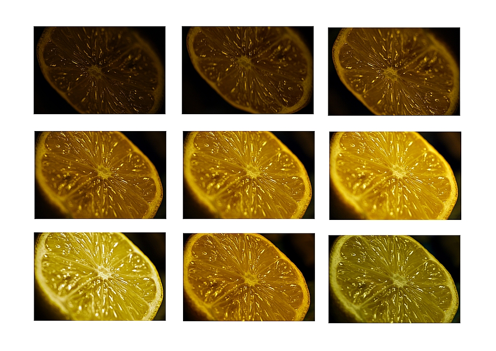 Zitronenvariationen