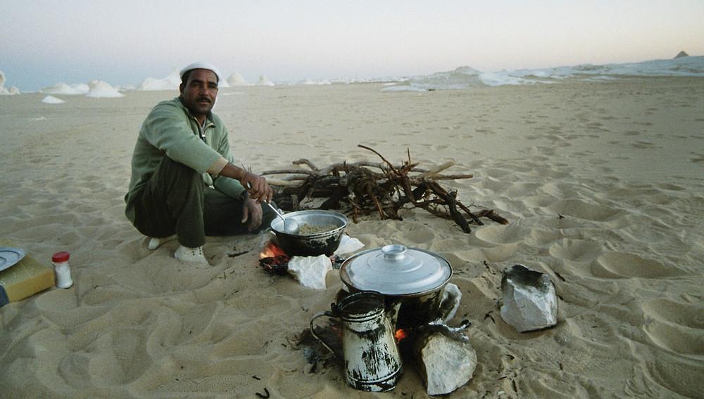 Z`nacht in der weissen Wüste (Sahara al-Baida)