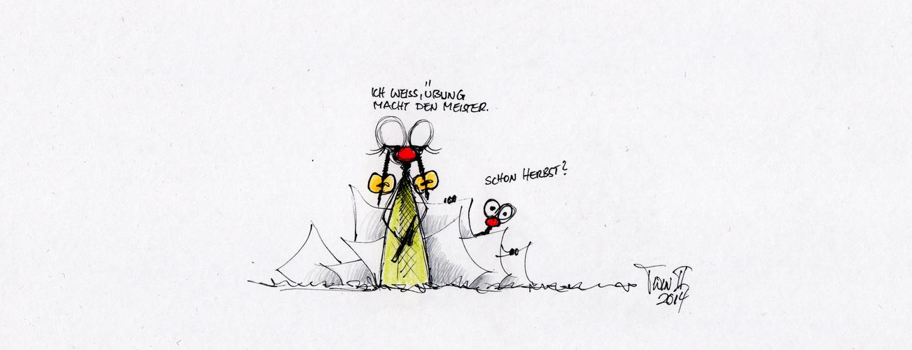 Zöpfchen lernt malen...