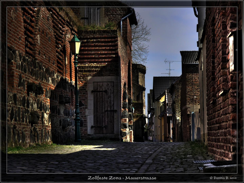 Zollfeste Zons - Mauerstrasse