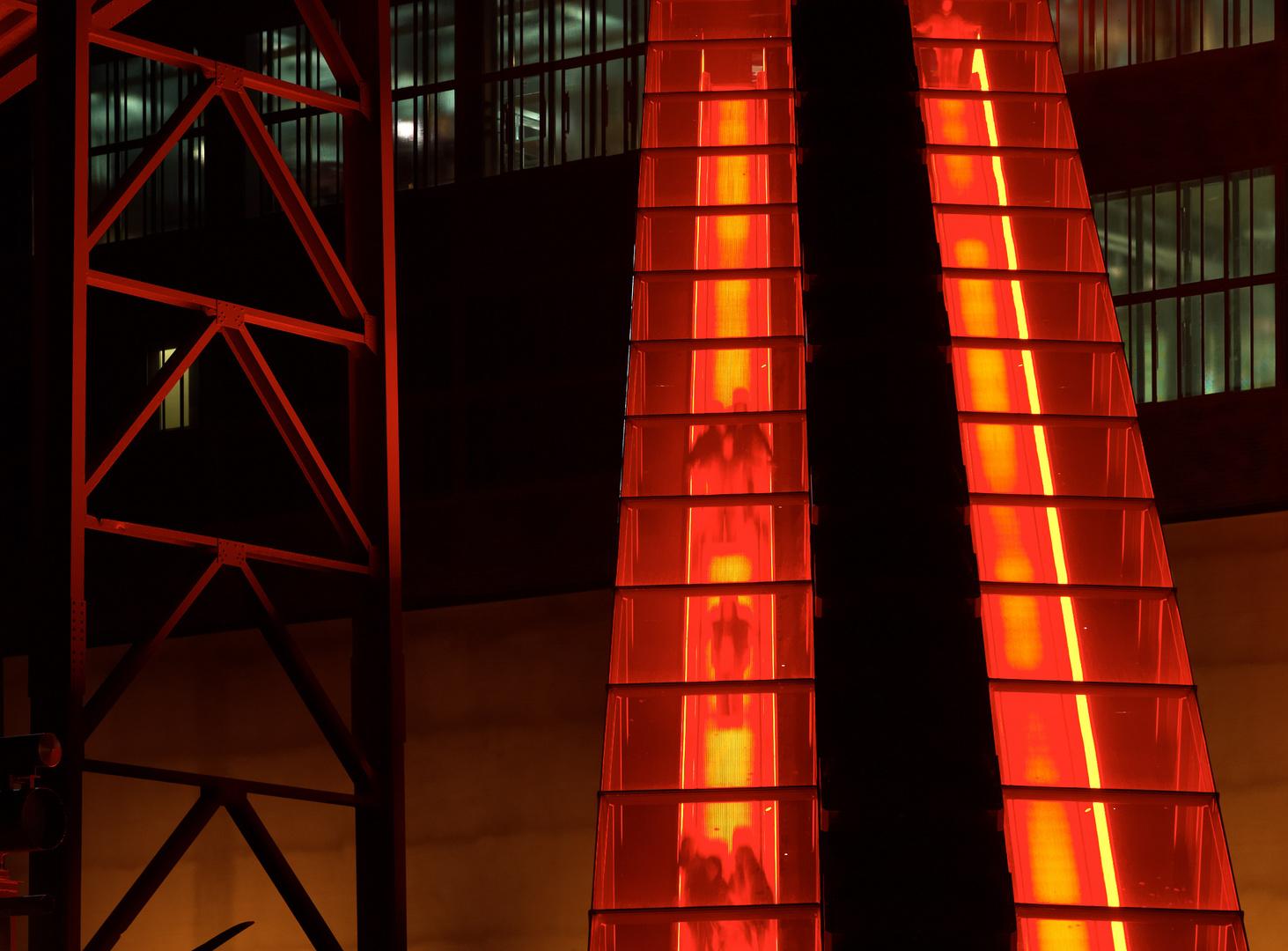 Zollverein, die letzten Besucher gehen