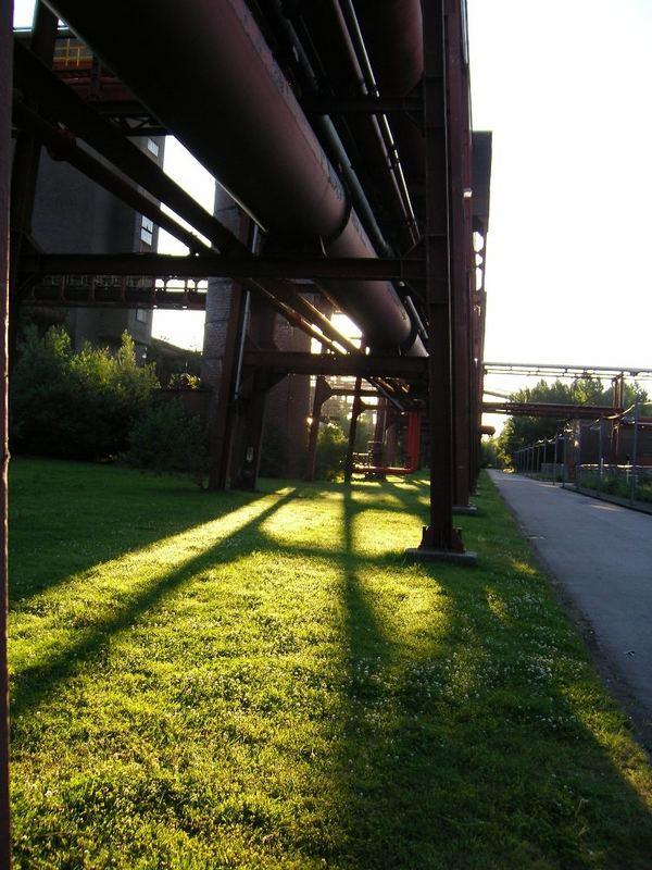 Zollverein in Morgen licht