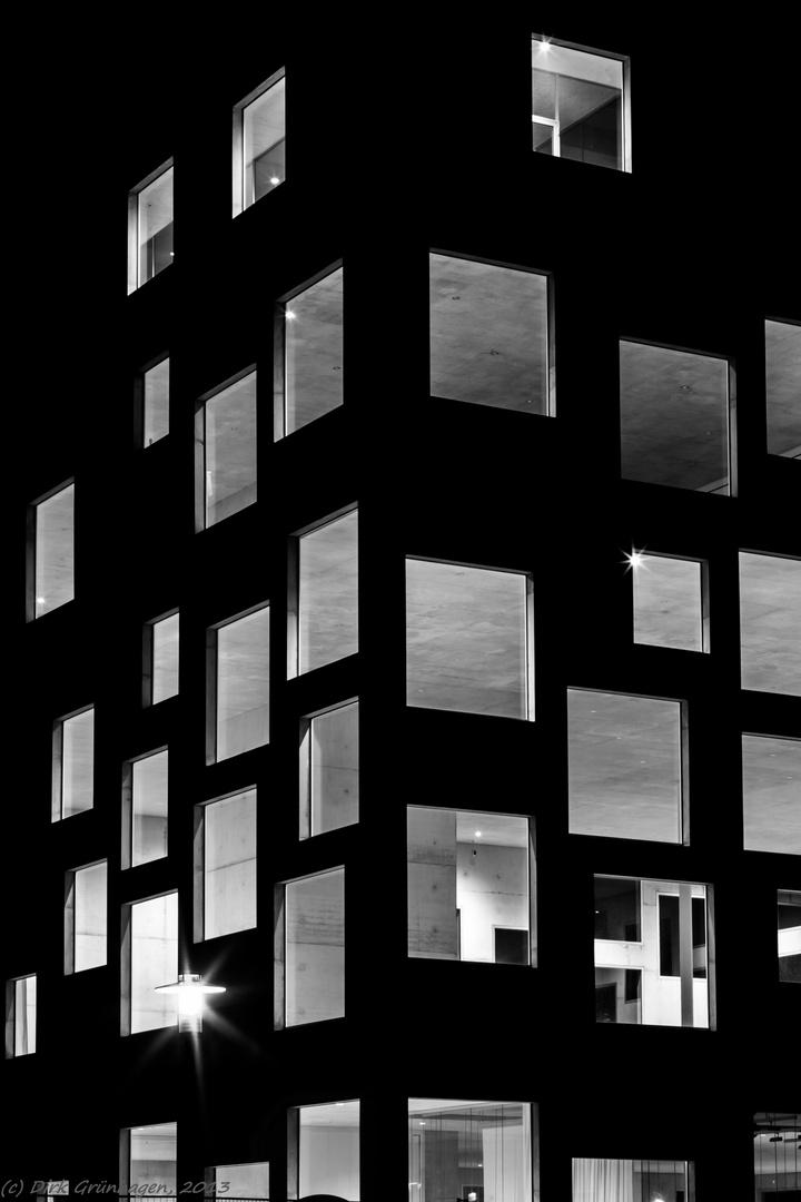 Zollverein-Kubus bei Nacht (Essen, Ruhrgebiet)