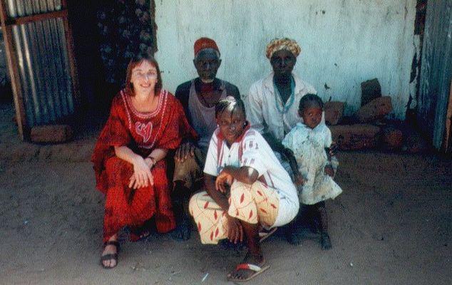 Zu Besuch bei Lamins Familie in Kafuta - mitten in Gambia