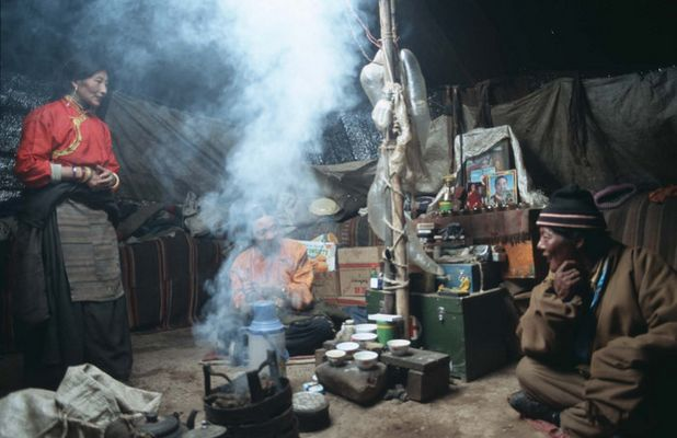 zu besuch bei tibet. nomaden