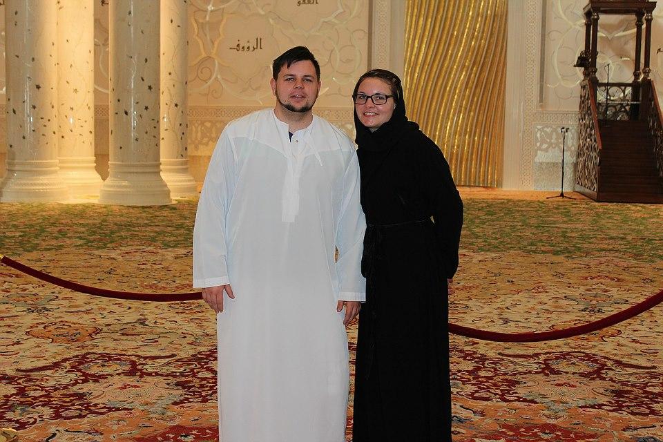 zu besuch in der Sheikh Zayed Moschee in Abu Dhabi