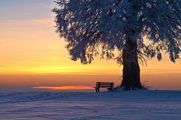 Zu kalt zum Sitzen
