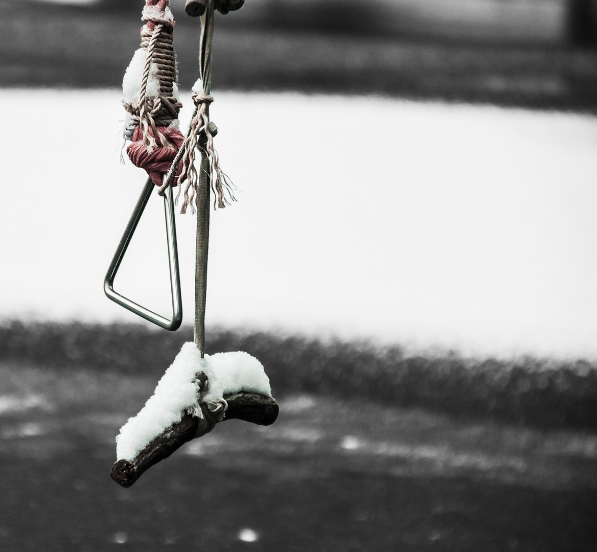 zu kalt zum Spielen