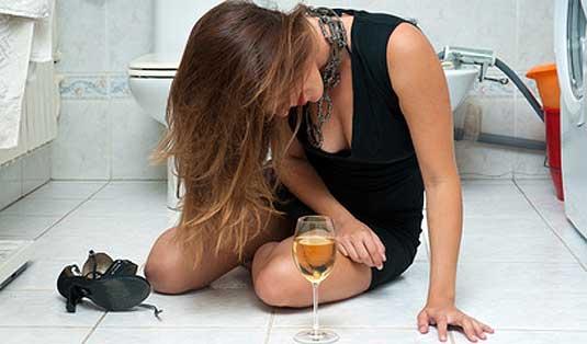 Zu viel getrunken