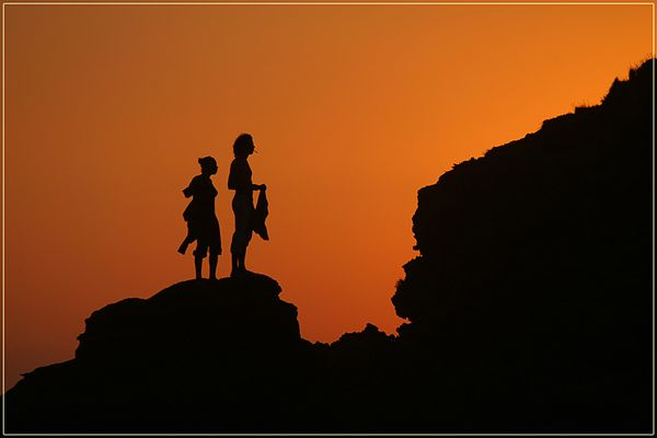 Zu zweit im Sonnenuntergang