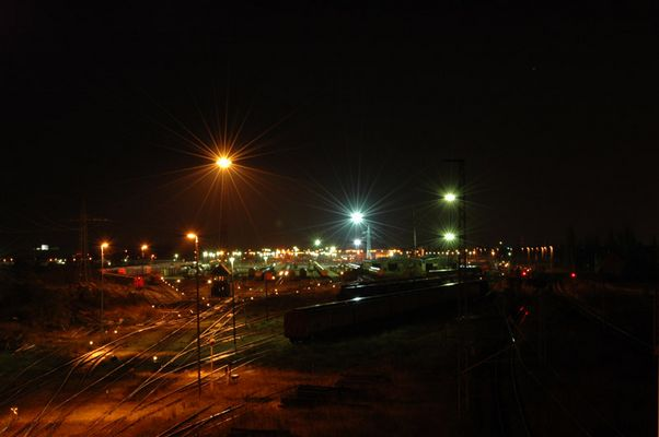 Züge und Weichen am Zug-Depo