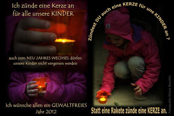Zünde eine Kerze für unsere Kinder an