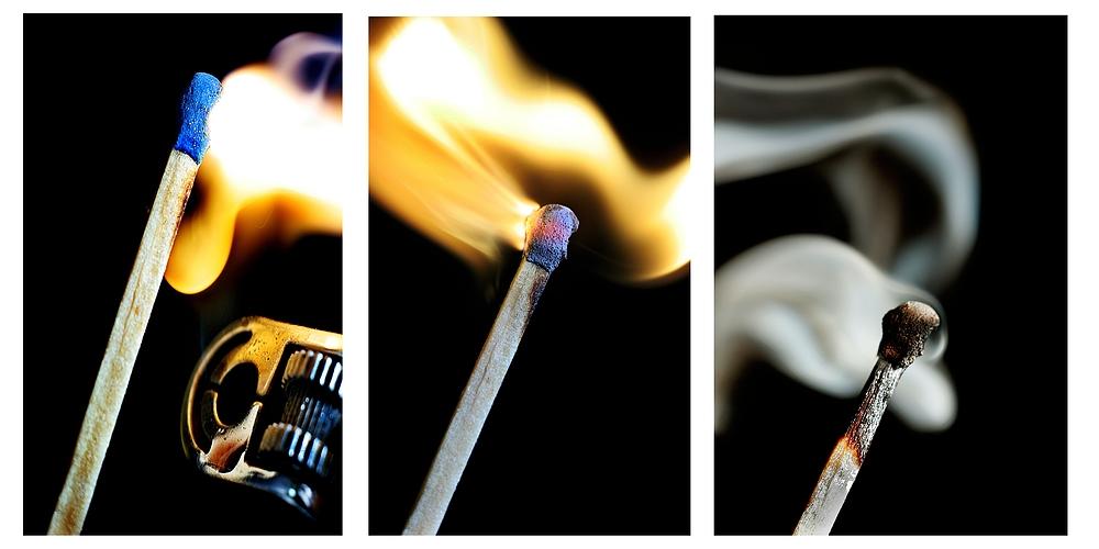 zünden, brennen, kühlen...