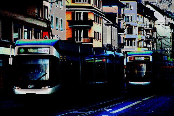 Zürcher Stadt-Tram oder Strassenbahn.
