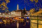 Zürich beim Einnachten