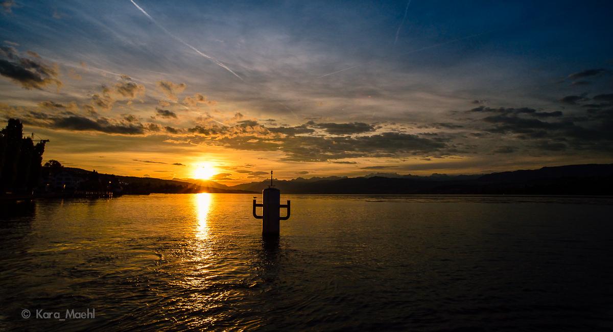 Zürichsee Sonntag Morgen