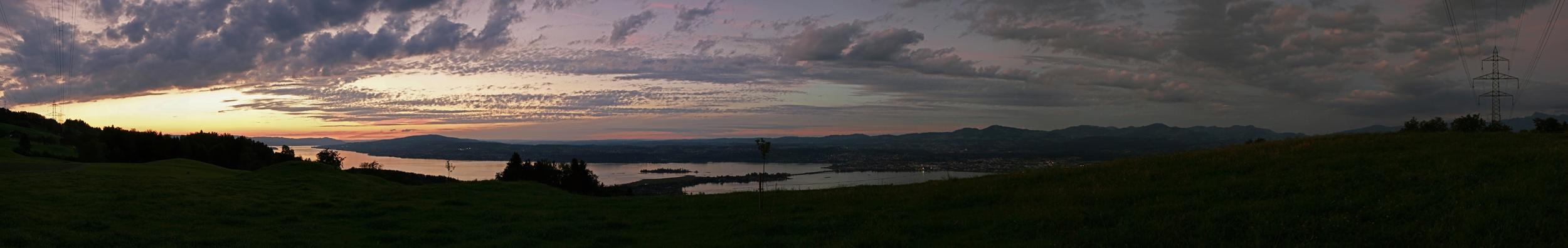 Zürichsee von Bilten aus gesehen