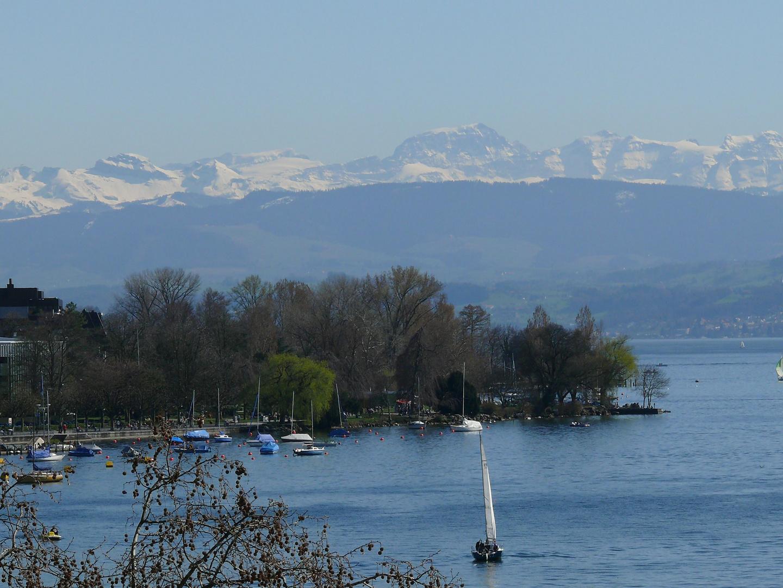 ZüriSee und Alpen - Blick vom Riesenrad
