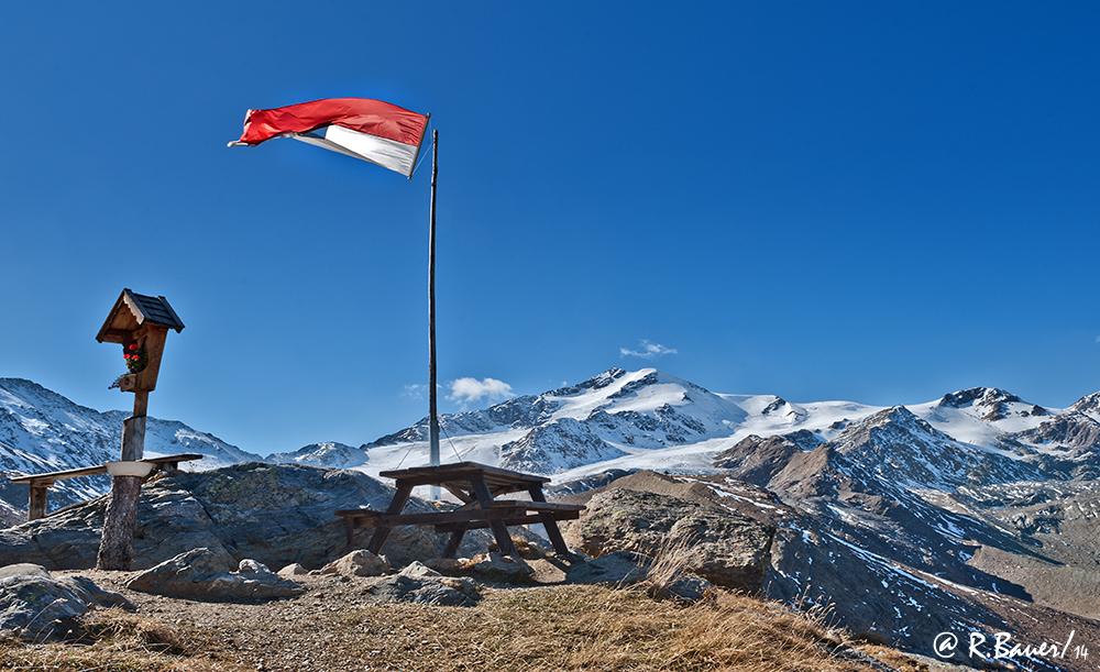 Zufallspitze -Blick von der Marteller Hütte / 2.610 m