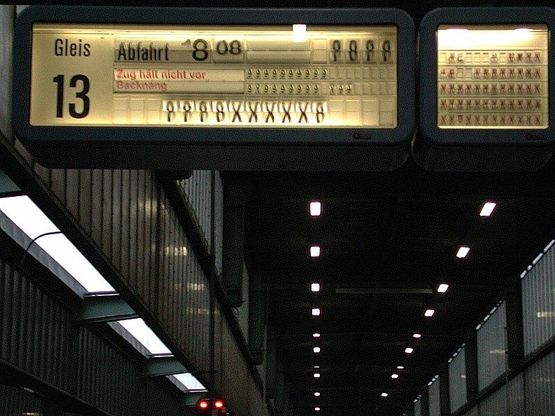 Zug hält nicht vor Backnang